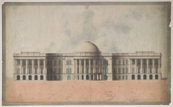 Elevation of the S.E. front of the New Government House, Calcutta